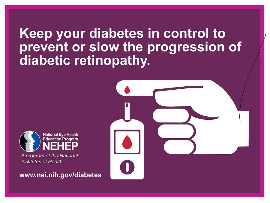 image from NEI shows finger pricking. www.nei.nih.gov/diabetes