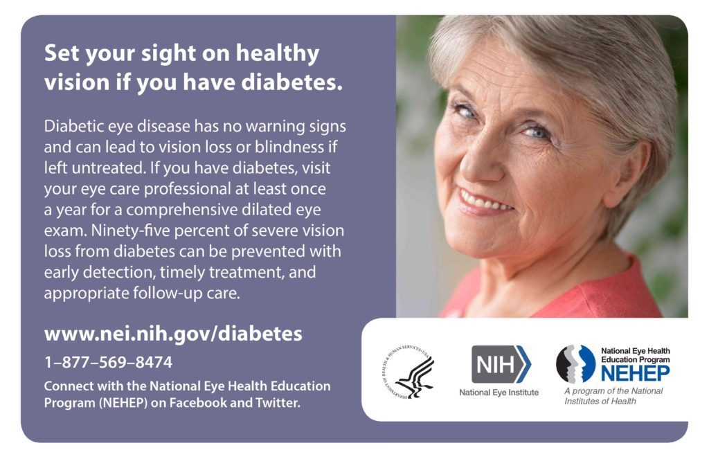 NEI-NEHEP image Healthy vision for those with diabetes