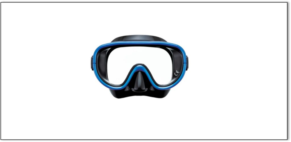 scuba mask indicating how person in initial stages of dementia sees.