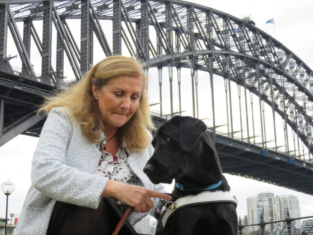Maribel & Dindi by Sydney Harbour Bridge