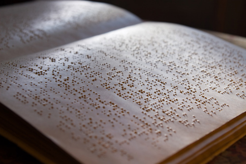 braille dots on page