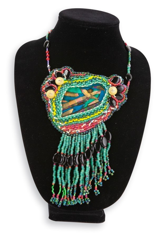 picture of piece my eyes are only for you which is a large necklace with hanging beads