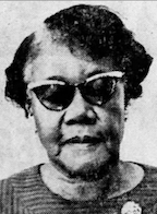 """photograph of Martha Louise Morrow Foxx, from a 1969 newspaper.  Source Skelton, Billy (1969-05-01). """"Teacher of Blind Will Retire After 40 Years of Dedication"""". Clarion-Ledger. p. 14. Retrieved 2020-07-10 – via Newspapers.com."""
