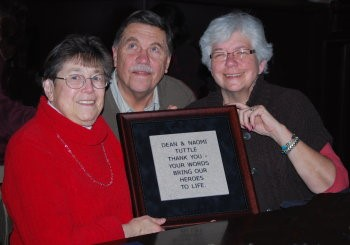 Naomi and Dean Tuttle (on left) Wall of Tribute Presentation stone – presented by Kay Ferrell at APH) (Dean W. Tuttle (aph.org)