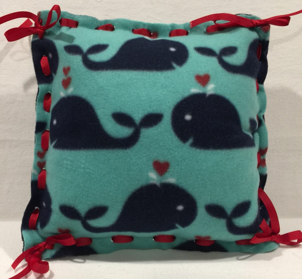 pillow made with simple mitsy kit