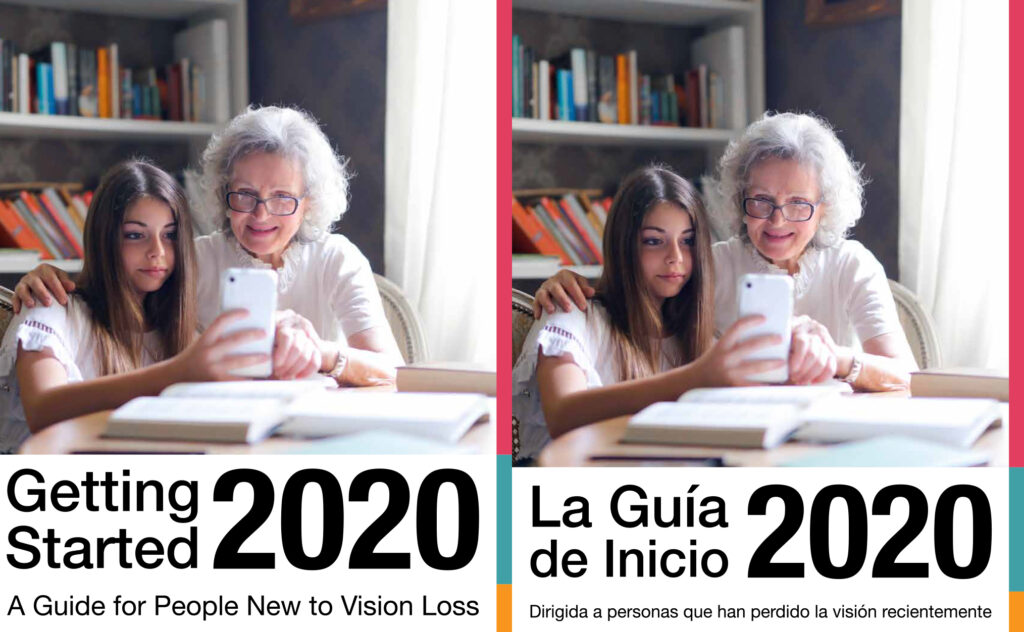 covers of english and spanish getting started guides: a guide for people new to vision loss