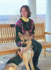 Sue Wiygul Martin with guide dog