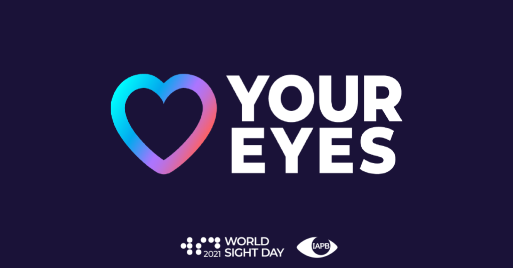 Logo for world sight day from World Sight Day: Love Your Eyes- The International Agency for the Prevention of Blindness (iapb.org)